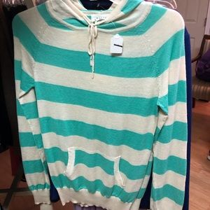 Striped Pullover Sweater Hoodie